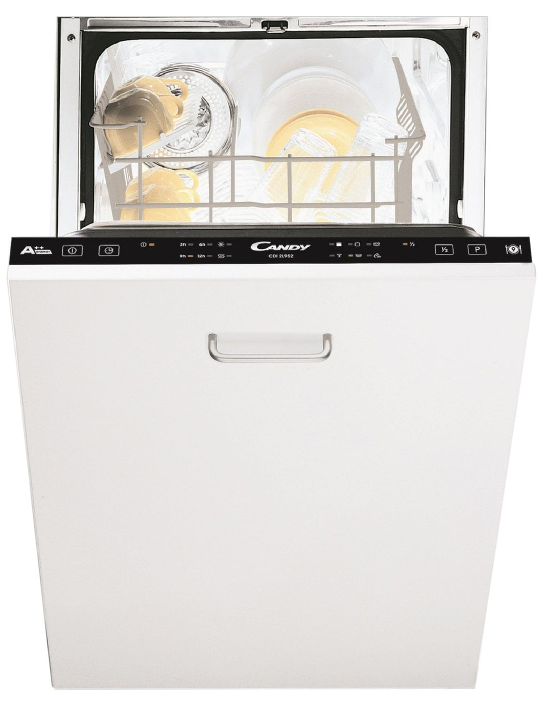 Candy CDIL952 Integrated Slimline Dishwasher - White