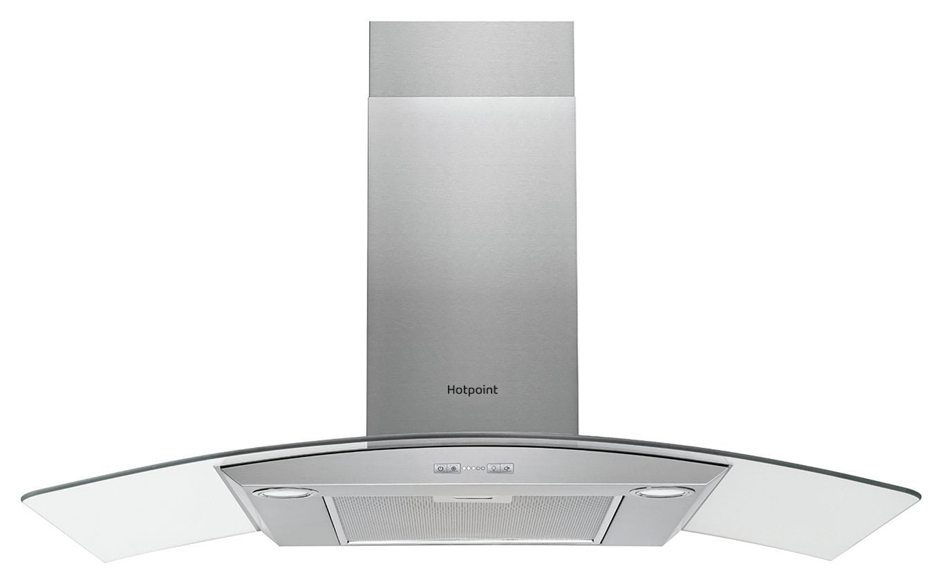 Hotpoint PHGC9.4FLMX 90cm Cooker Hood - Stainless Steel