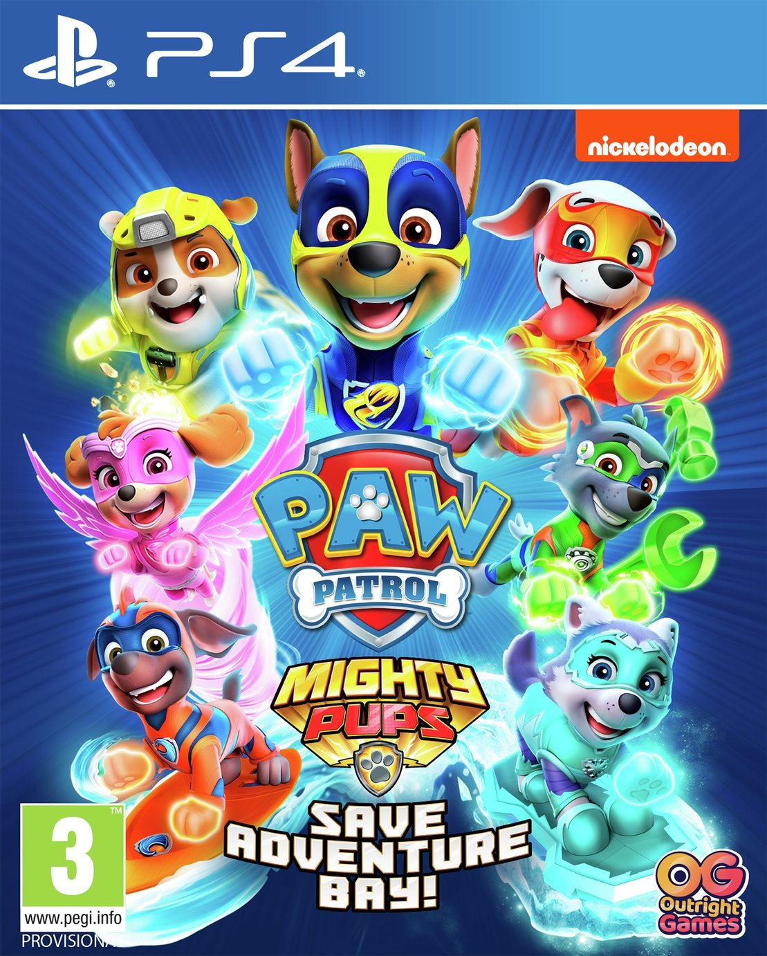 Paw Patrol Mighty Pups Save Adventure Bay PS4 Game Pre-Order