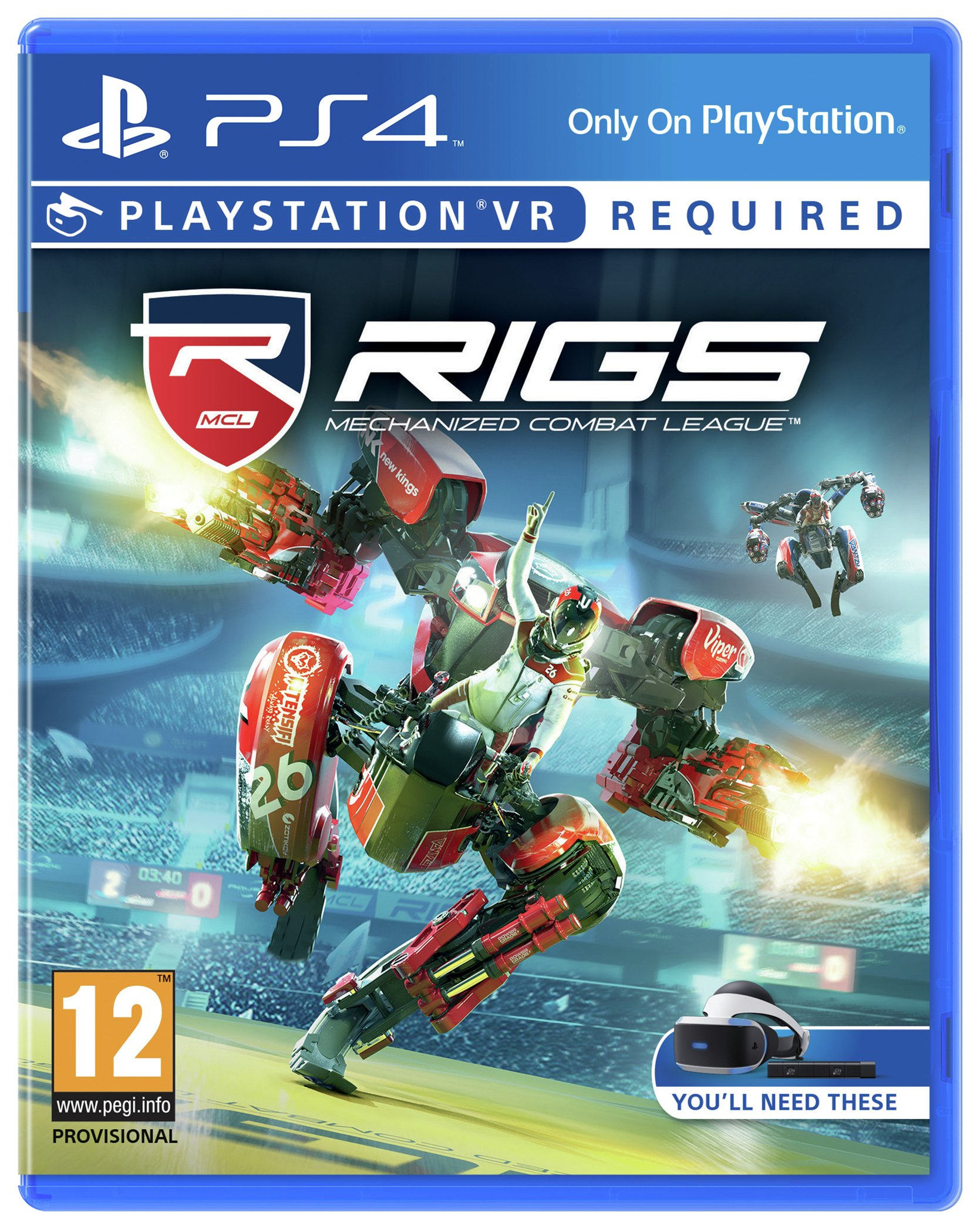 RIGS: Mechanised Combat League PS4 Game.