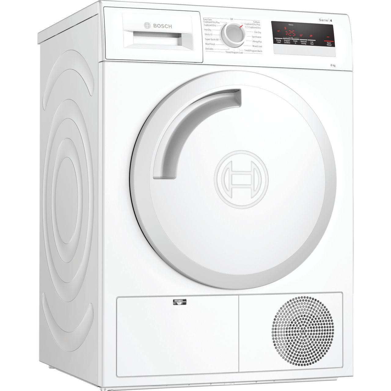 Serie 4 WTN83201GB 8Kg B Rated Condenser Tumble Dryer   White