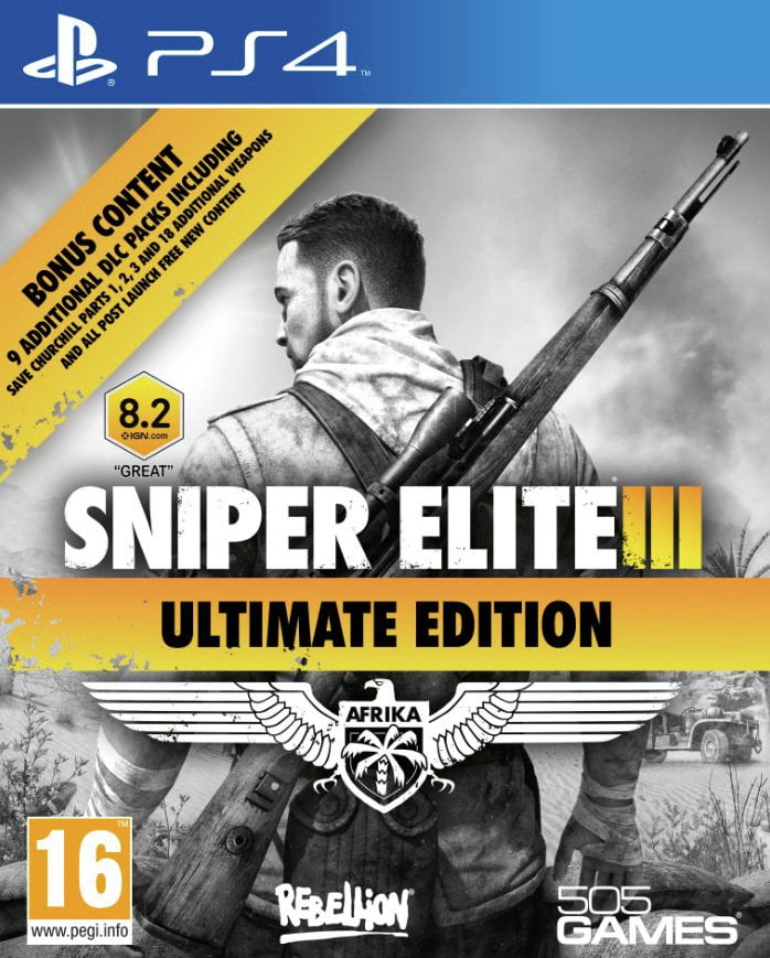 Snipers Elite 3 Ultimate Edition PS4 Game.