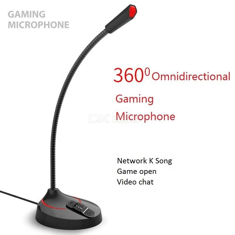 360-degree Omnidirectional USB Desktop Microphone For Home Office Computer Gaming