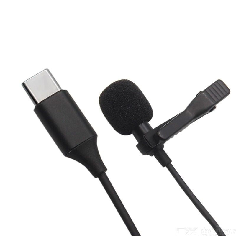 USB Type-C Mini Microphone, Wired Microphone, Clip-on Lapel Microphones for Smartphone, YouTube Recording TikTok Singing