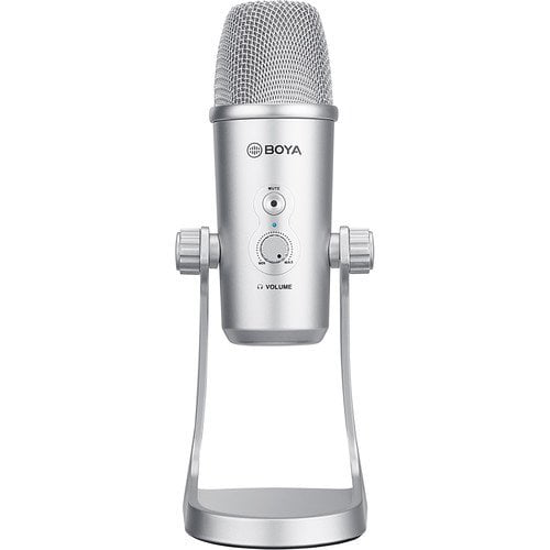 BOYA BY-PM700SP Multipattern USB Condenser Microphone - Silver