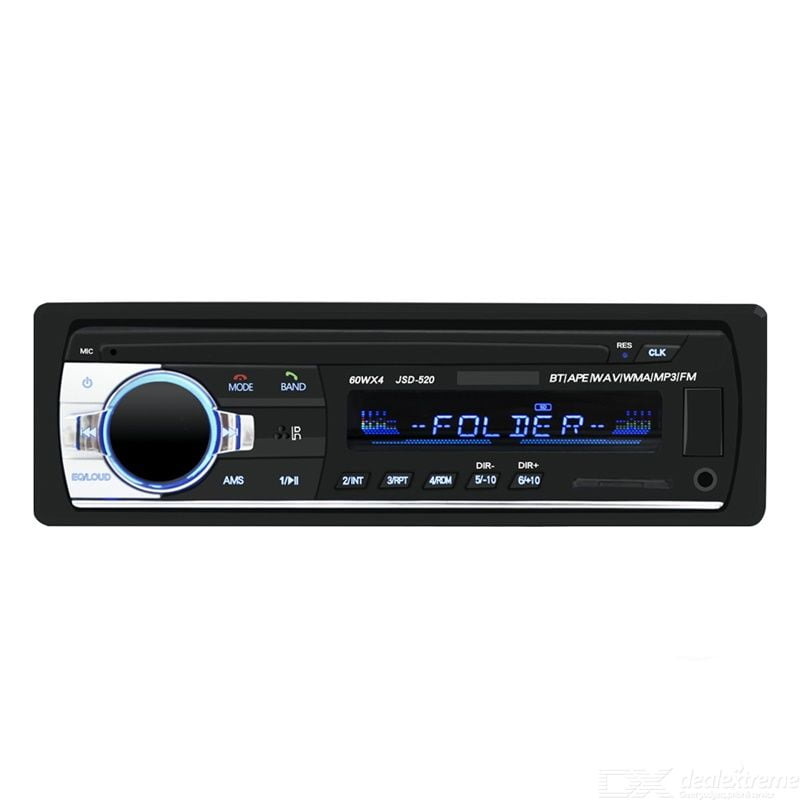 Bluetooth Amplifier LCD Display 4-channel Output Single USB Port Built-in HD Microphone Support MP3