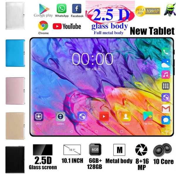 2020 new 10.1 inch tablets ( game tablets pad 4g-lte android 8.0 bluetooth pc 6g + 128gb dual sim kids tablet