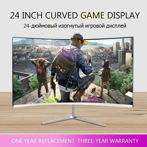 24/32 inch lcd monitor for computer 144hz pc deskhome office monitoring hd screen full color display game without borders