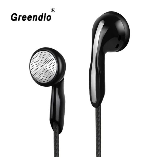 greendio bass earphone in-ear noise cancel earbuds hifi stereo surround sound video game earpiece with hd mic for mobile/pc/mp3