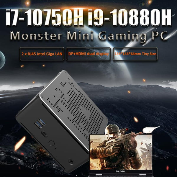new arrival core i9 10880h 10750h mini gaming pc windows 10 pro ddr4 pc gamer for 3d games office home school