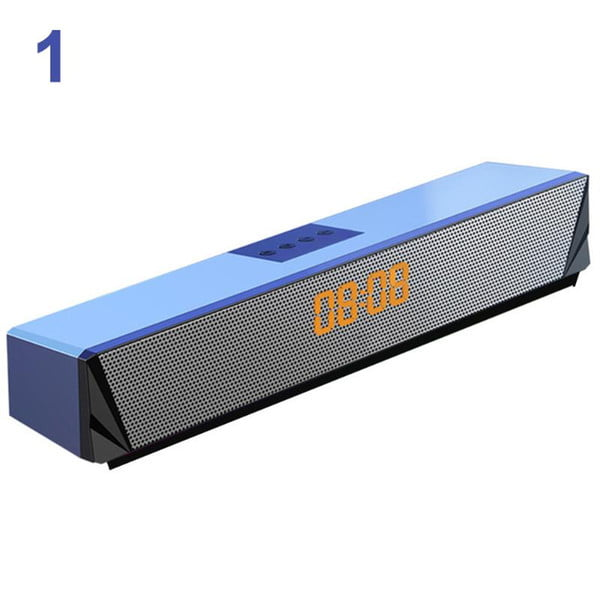 smartphones rgb led display lapdeskcomputer deep bass for pc tv game console bluetooth sound bar speaker multifunction