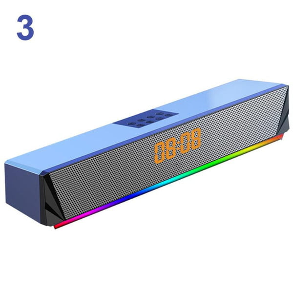 tv smartphones deskcomputer for pc tf card support game console bluetooth sound bar speaker deep bass home rgb led display