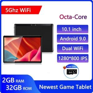 zonko 10 inch tablets android 9.0 game tablet pc octa core 8 cores 2g ram 32g rom 5g wifi 1280*800 ips gps google play youtube